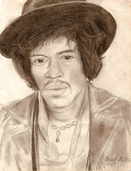 Jimi Hendrix by Michael Mestas