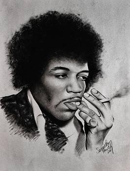 Jimi Hendrix by Samantha Howell