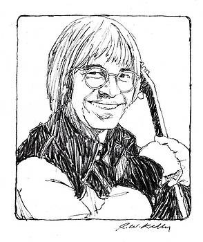 John Denver Sketch by J W Kelly