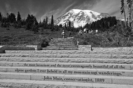 John Muir Quote at Mt Rainier by Bob Noble Photography