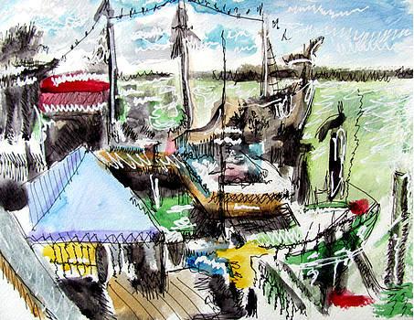 John's Pass Boats by Douglas Durand