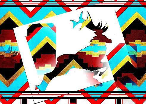 Jumping Elk by Paul Ferrara