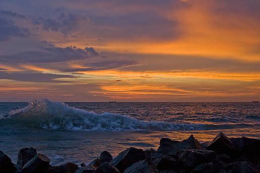 Kerala Sunset by Sonny Marcyan