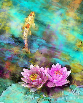 Koi morning mist by Gina Signore