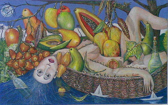 Lady Under the Fruits by Amado Gonzalez