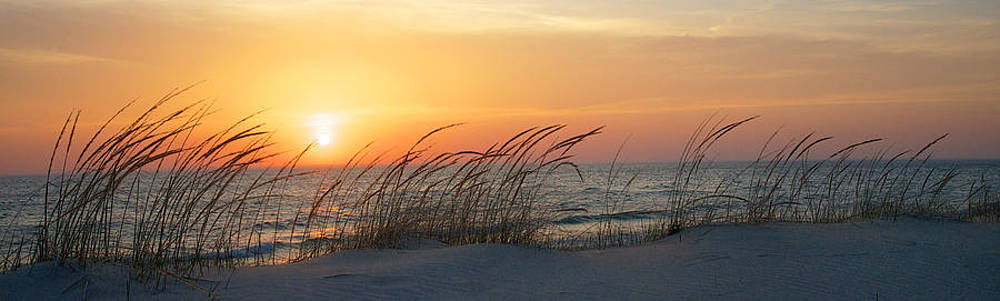 Mary Lee Dereske - Lake Michigan Sunset Panorama