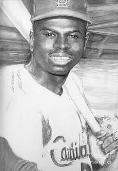 Lou Brock by Carliss Mora