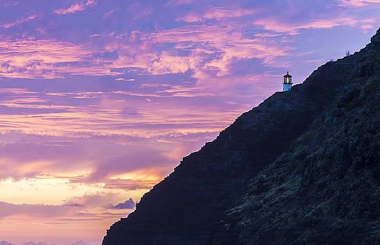 Makapuu Lighthouse Sunrise 2 by Leigh Anne Meeks