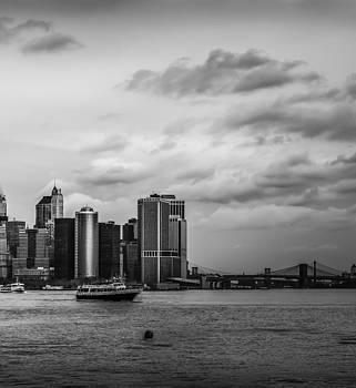Manhattan Skyline Right Triptych by David Morefield
