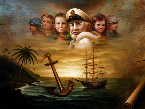 Map captain and five children by Yoo Choong Yeul
