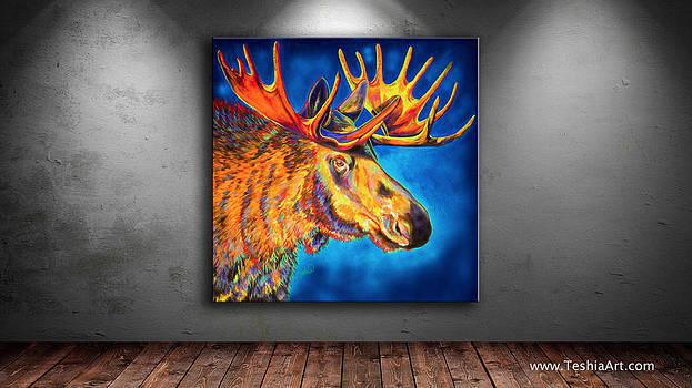 Teshia Art - Moose Blues Display Image