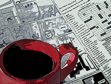 Coffee/Tea and Newspaper by Anuradha Gupta