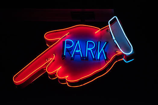 Neon Park Sign by Lee Roth
