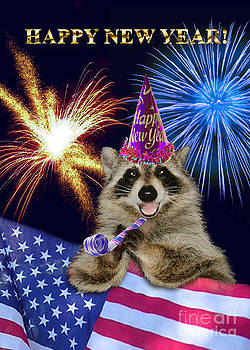 Jeanette K - New Years Raccoon