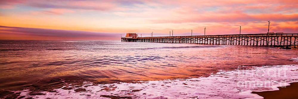 Paul Velgos - Newport Beach Pier Sunset Panorama Photo