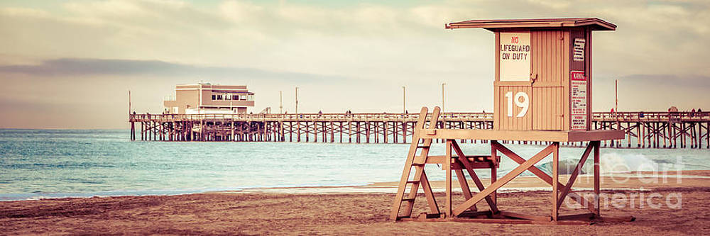 Paul Velgos - Newport Pier and Lifeguard Tower 19 Vintage Picture