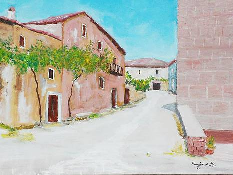 Old houses near the old church by Mauro Beniamino Muggianu