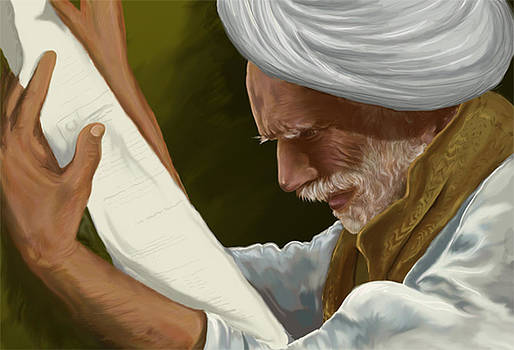 Old man riding of rajsthan by Prakash Leuva