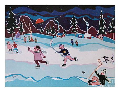 On Frozen Pond by Joyce Gebauer