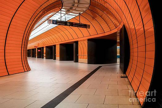 Orange Subway Station by Martin Dzurjanik