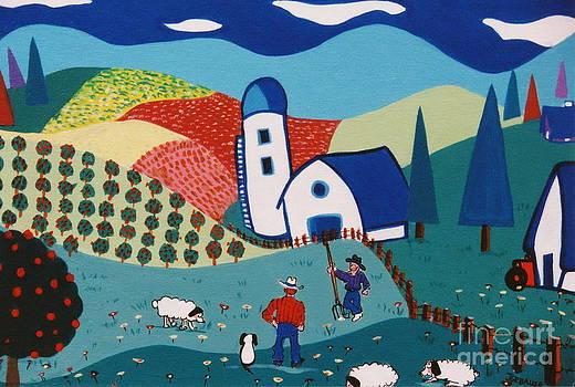 Orchard Orators by Joyce Gebauer