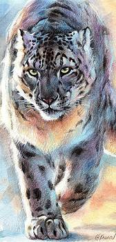 Out of Nowhere - Snow Leopard by Christine Karron
