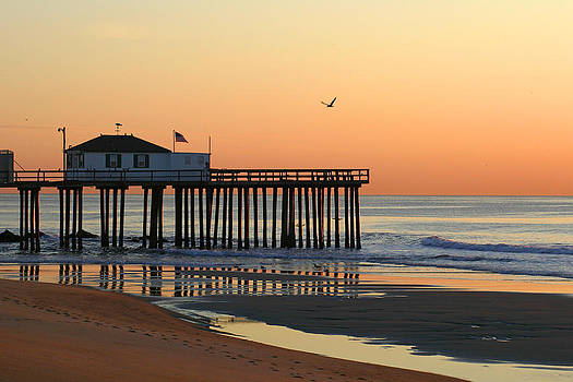 Pier at Sunrise by Kelly S Andrews