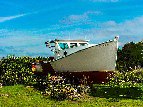 Retired Lobster Boat by Gordon H Rohrbaugh Jr