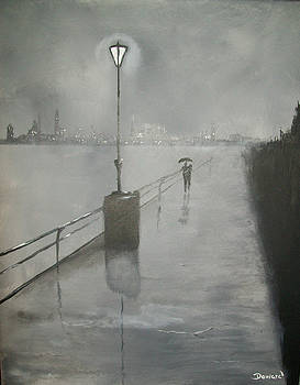 Romantic walk in the rain by Raymond Doward