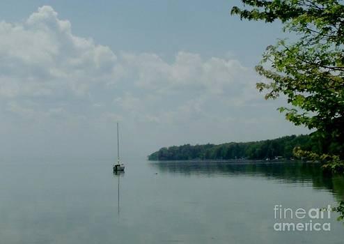 Gail Matthews - Sailboat on a foggy lake