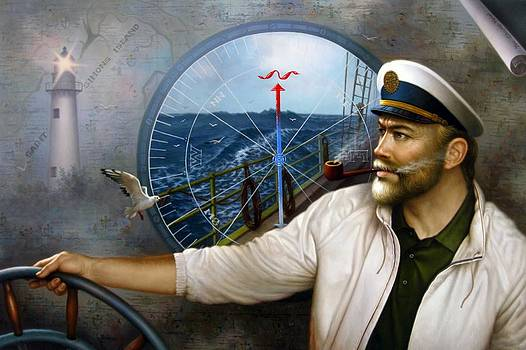 Saint Simons Island Map Captain 3 by Yoo Choong Yeul