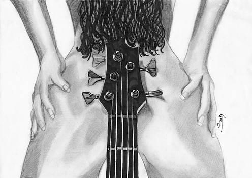 Sexy Guitar by Saki Art
