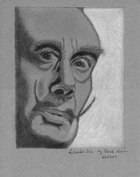 Sketch of Salvador Dali by Ashok Naraian