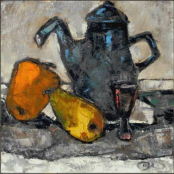 Still life with teapot by Pemaro
