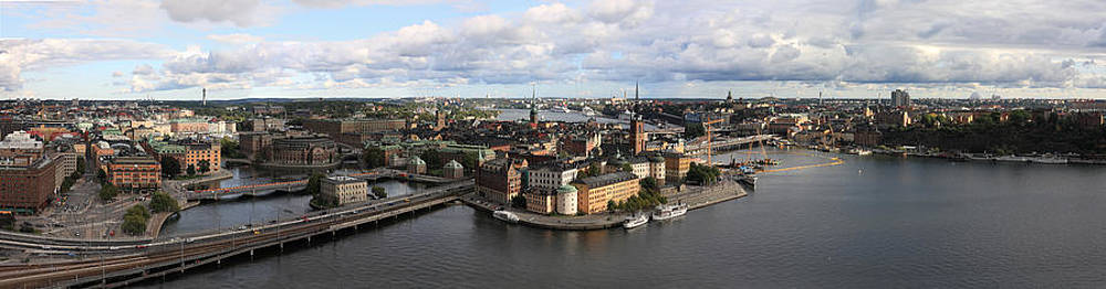 Stockholm skyline panorama from Stadshuset by Alex Sukonkin