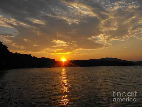 Sun Setting on Newfound Lake by Lisa Gifford