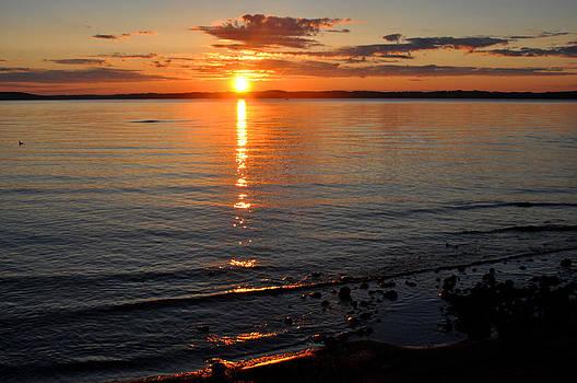 Sunrise on Grand Traverse Bay by Diane Lent