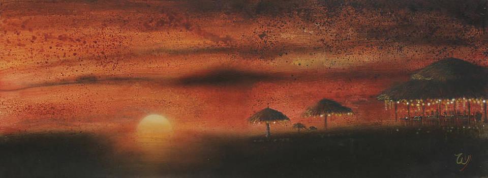Sunset Beach Bar by Bill Yurcich