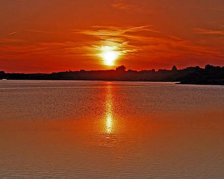 Sunset on Lake Zorinski by Randall Templeton