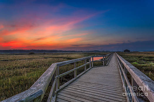 English Landscapes - Sunset On The Boardwalk