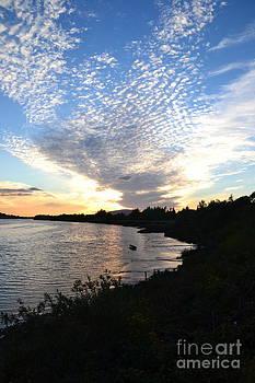 Joe Cashin - Sunset on the river Suir