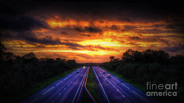 Sunset Over the Freeway by Loic  GIRAUD