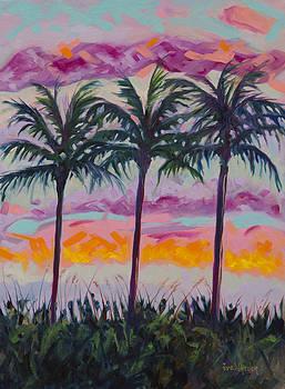 Sunset Trio by Eve  Wheeler