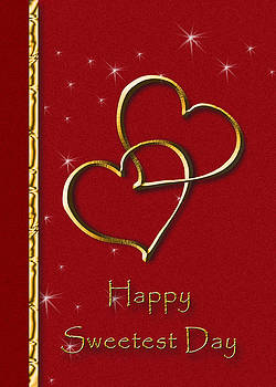 Sweetest Day Gold Heart by Jeanette K