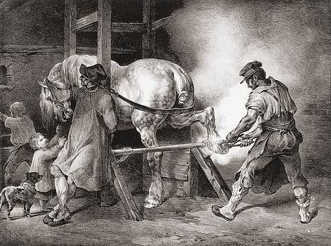 Theodore Gericault - The Farrier, From Etudes De Cheveaux