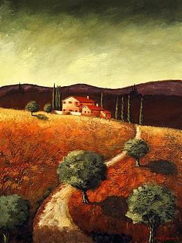 The road to the maseria by Santo De Vita