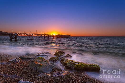 English Landscapes - Totland Pier Sunset
