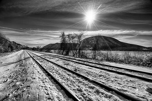 Tracks Along The Hudson by Rafael Quirindongo