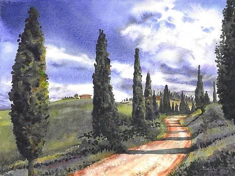 Tuscany Road by Sarah Kovin Snyder