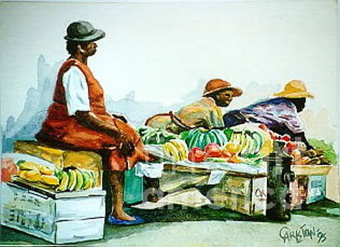 Two Hawkers by Carlston Hamblin
